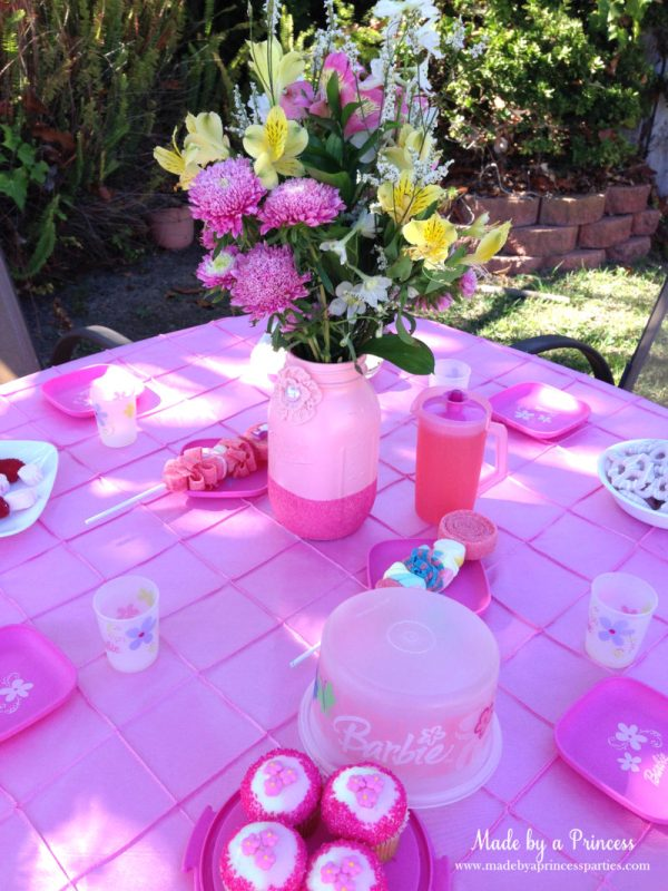 barbie tea party table