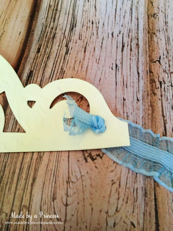 sizzix crown tutorial ribbon