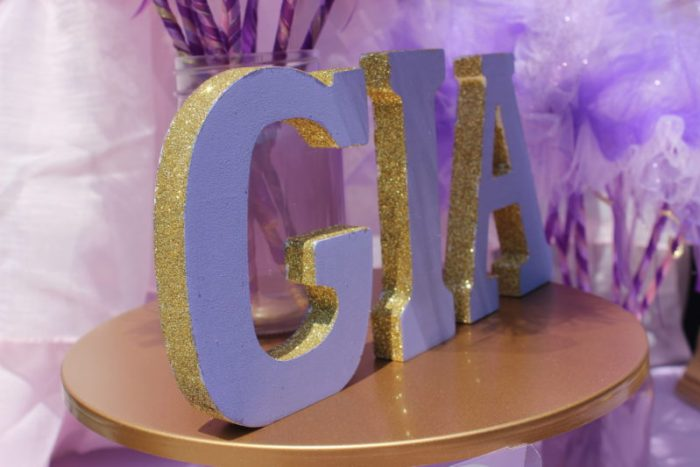 best day ever rapunzel party by tabletop treats glittered letters