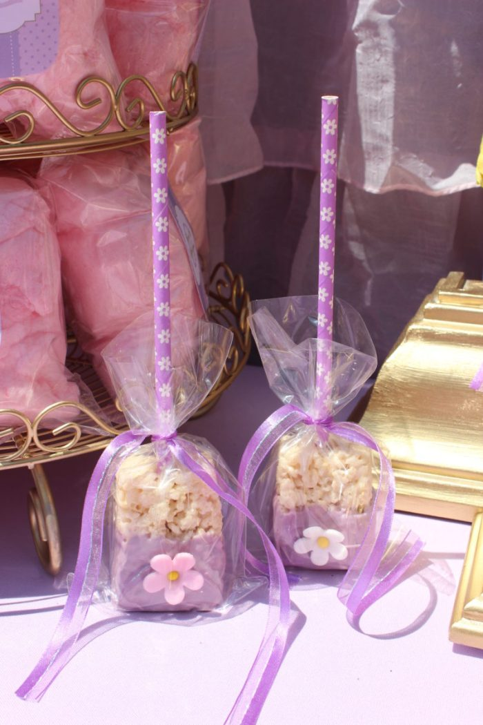 best day ever rapunzel party by tabletop treats rice krispy treats
