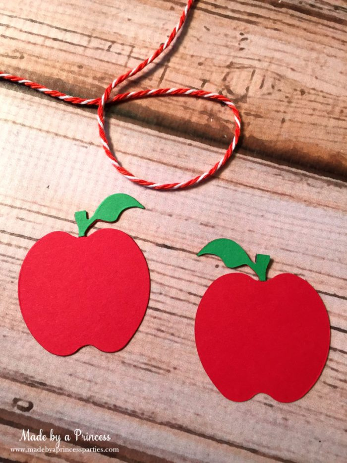 sizzix pencil bookmark apples