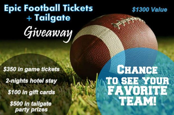 Epic Football Tickets & Tailgate GIVEAWAY