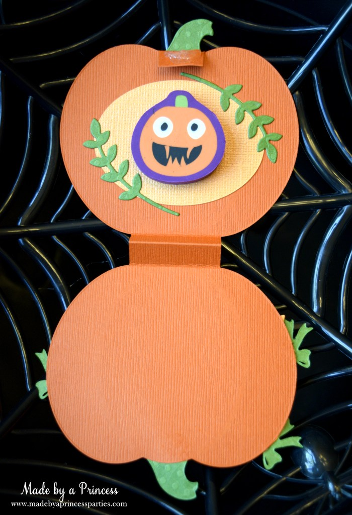 sizzix pumpkin favor inside with eraser