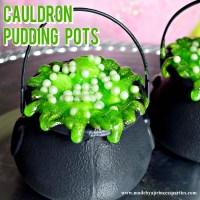 Halloween Party Food Cauldron Pudding Pots