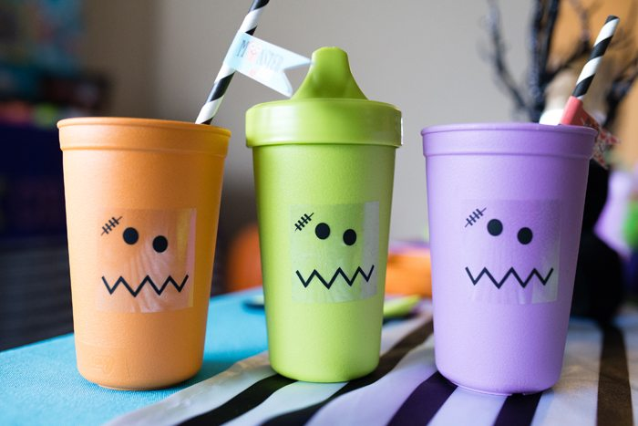 Monster Mash Party Ideas re-play cups