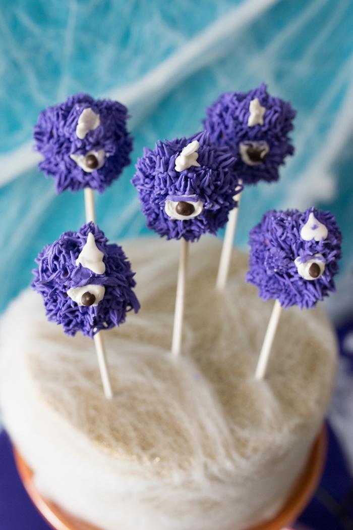Monster Mash Party Ideas cake pops