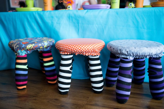 Monster Mash Party Ideas Will make you scream in delight monster chairs