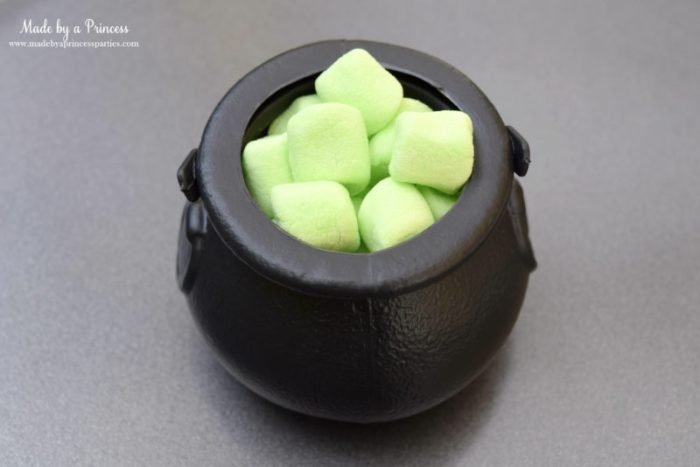 Halloween Party Food Cauldron Pudding Pots add marshmallows