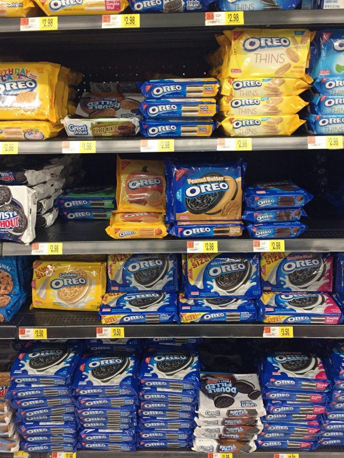 OREO cookie balls walmart aisle