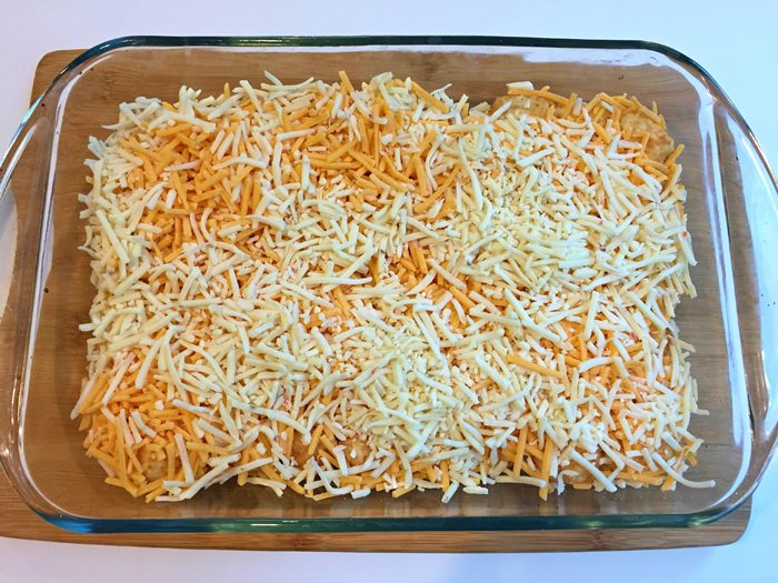 christmas casserole cheese layer