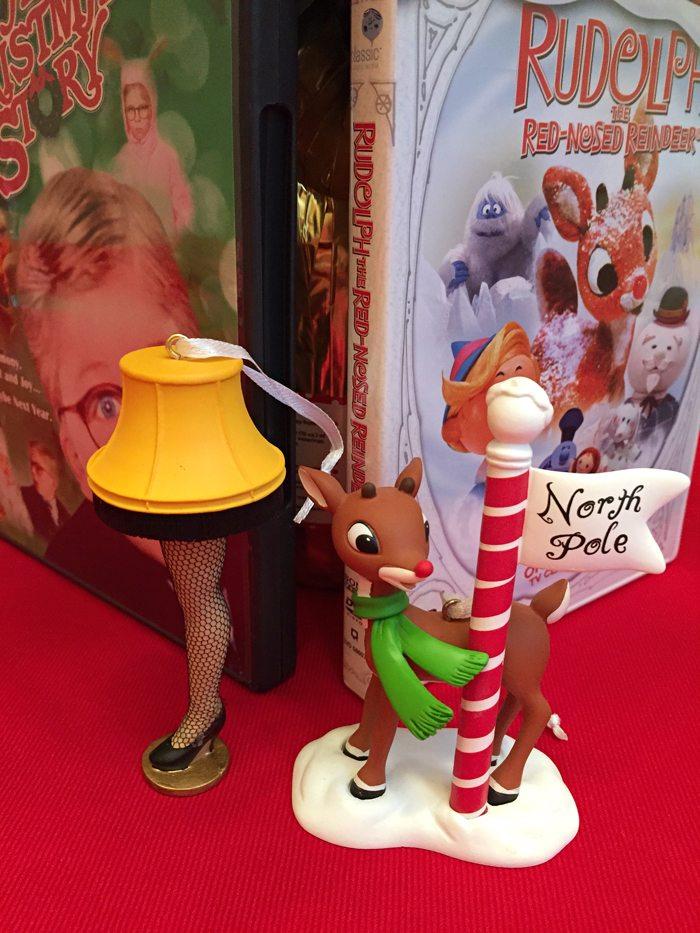 hallmark in walmart rudolf and christmas story ornaments