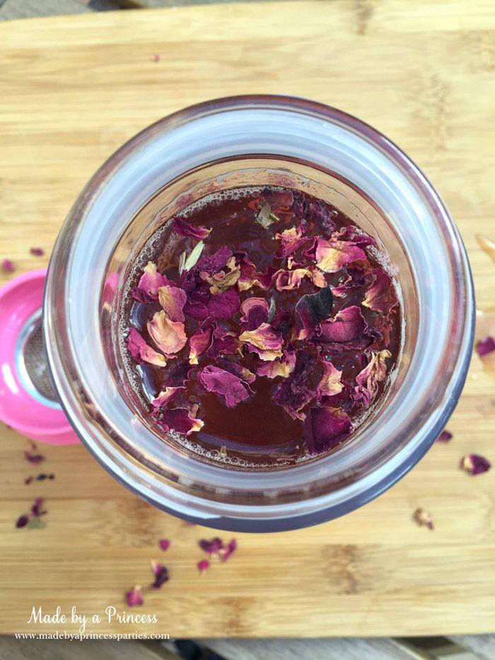 libre tea travel infuser roses in glass