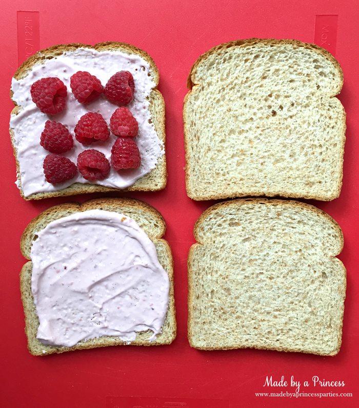 Desplegable tostada francesa rellena flaca