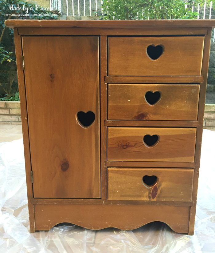 antique cabinet pink pearl makeover untouched