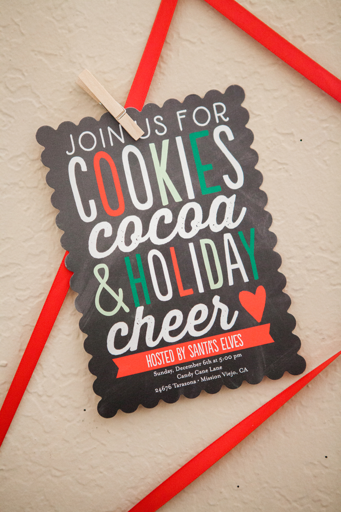 candy cane lane christmas party cookies cocoa invite