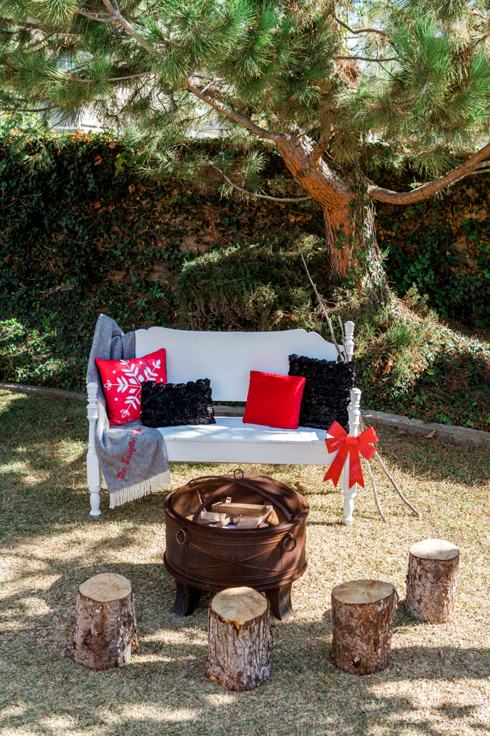 candy cane lane christmas party cozy couch