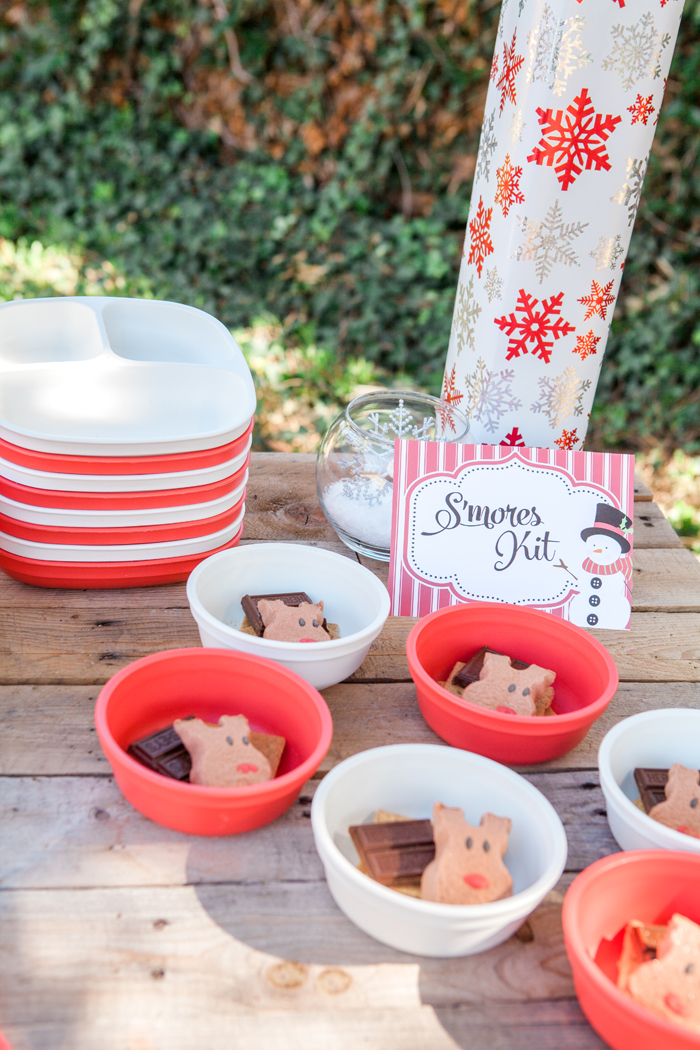 candy cane lane christmas party smores kit