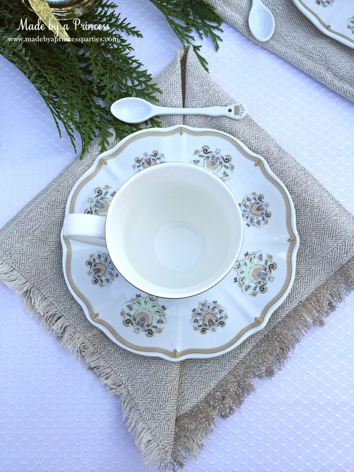downton abbey cpwm cookie exchange place setting