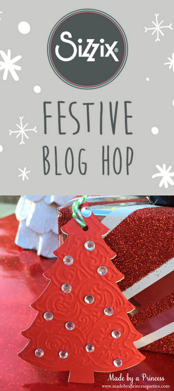 sizzix festive blog hop wrapping paper gift tags main