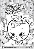 Shopkins Coloring Pages Season 1 Apple Blossom