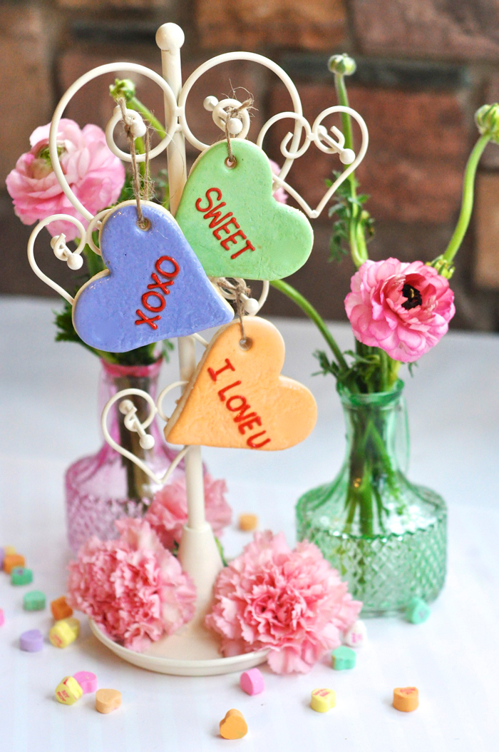 Valentines Day Garden Party conversation heart cookies