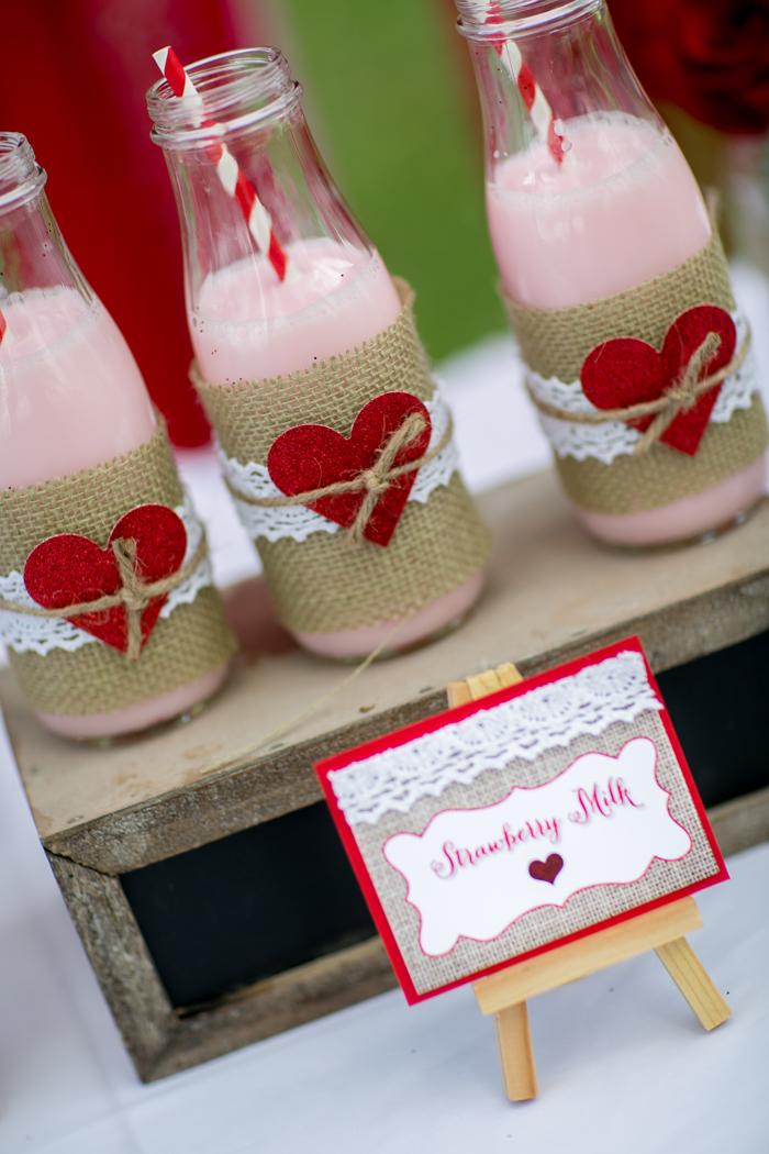 celebrate happy hearts day with strawberry milk