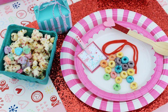 Creative Kids Valentine Party Ideas plates and treats