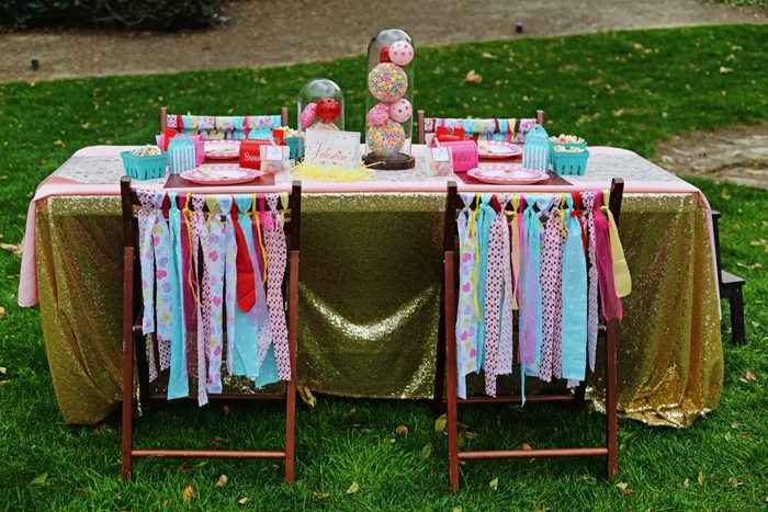 Creative Kids Valentine Party Ideas table set up