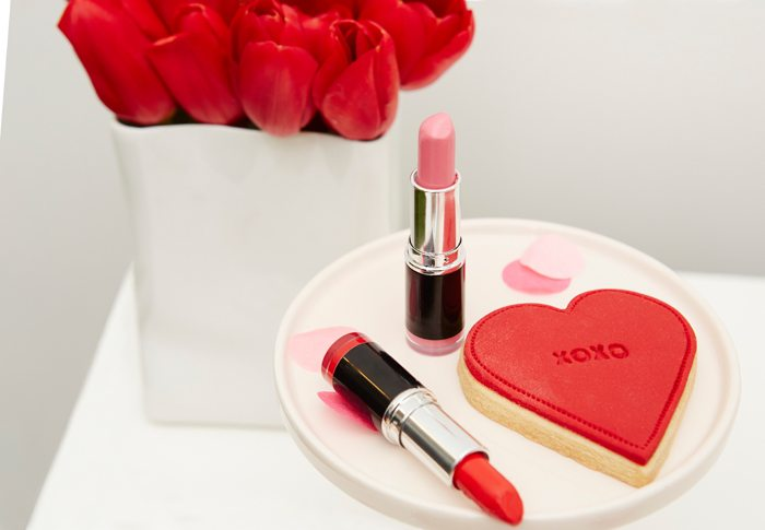 Kissing Booth Valentines Day Party lipstick and cookies
