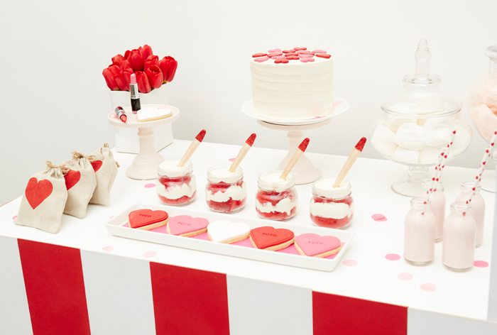Kissing Booth Valentines Day Party sweets