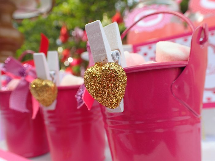 Sweet Party for Sweet Girls favor buckets