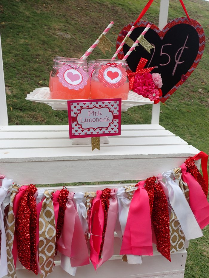 Sweet Party for Sweet Girls glitter ribbon banner