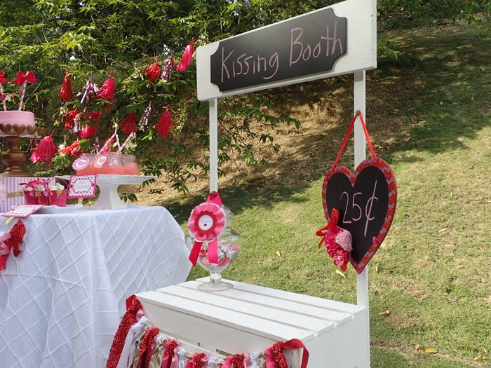 Sweet Party for Sweet Girls kissing booth