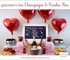 Champagne Fondue Galentines Day Bar