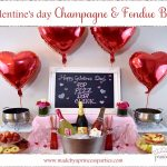 galentines day champagne fondue bar