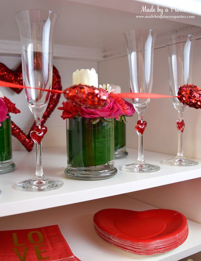 galentines day champagne fondue buffet flutes