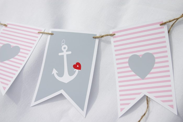 message in a bottle valentines party banner