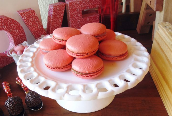 sweet on you valentine party macarons