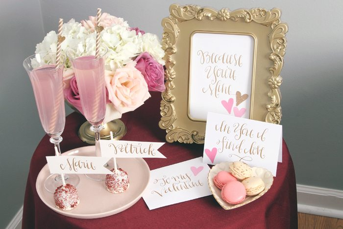 sweethearts treats for two small table