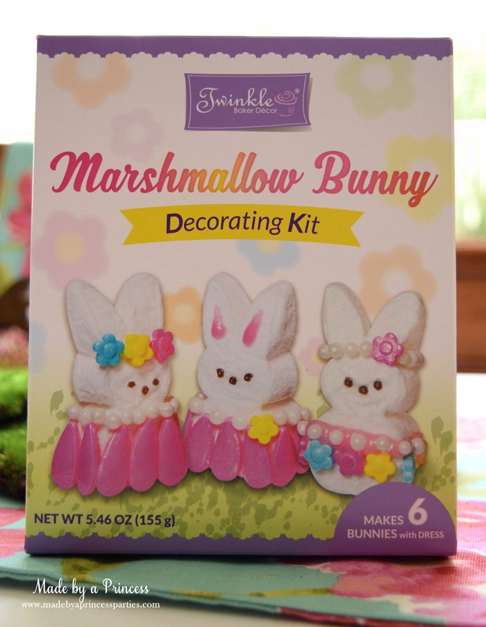 Easy Easter Entertaining Ideas marshmallow bunny decorating kit
