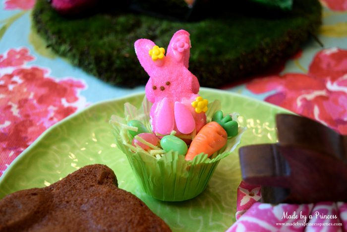 Easy Easter Entertaining Ideas marshmallow bunny in grass