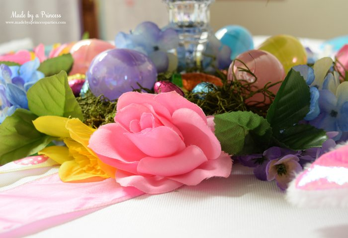 budget friendly easter ideas flowers under the plate
