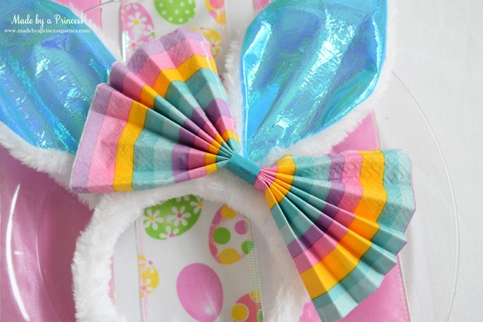 budget friendly easter ideas napkin bow for bunny ears 2