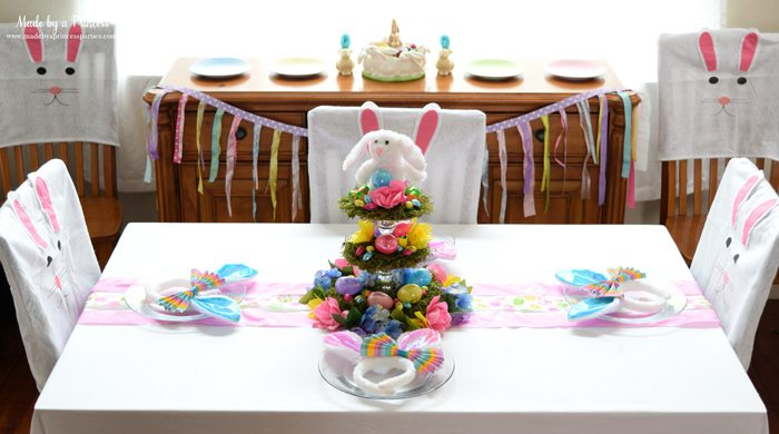 budget friendly easter ideas table top side view