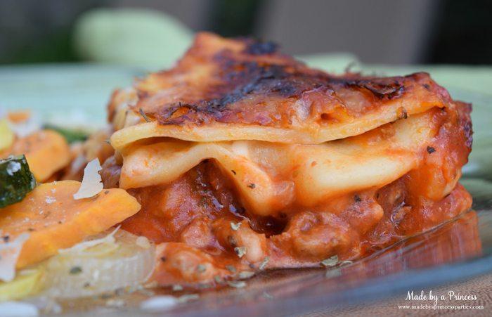 hearty seasonal vegetable casserole recipe lasagna slice