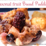 seasonal fruit bread pudding