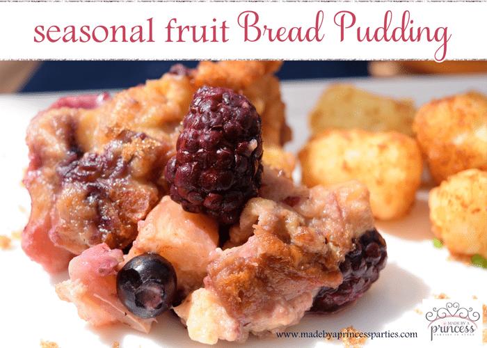 seasonal fruit bread pudding