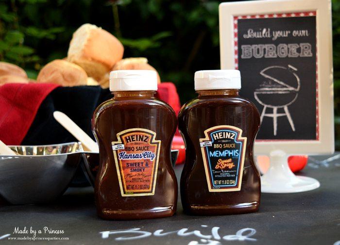 heinz build your own burger bar kansas city and memphis bbq sauce