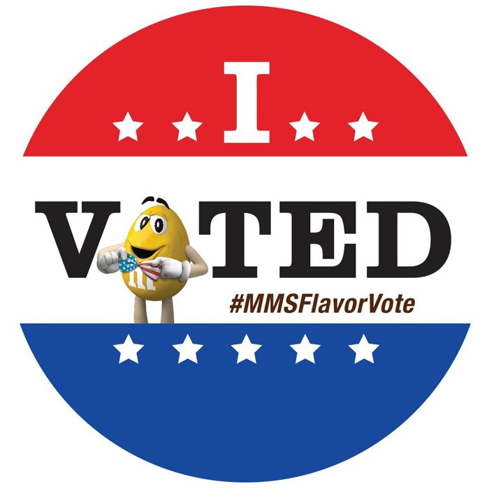 MARS Flavor Vote I Voted Sticker