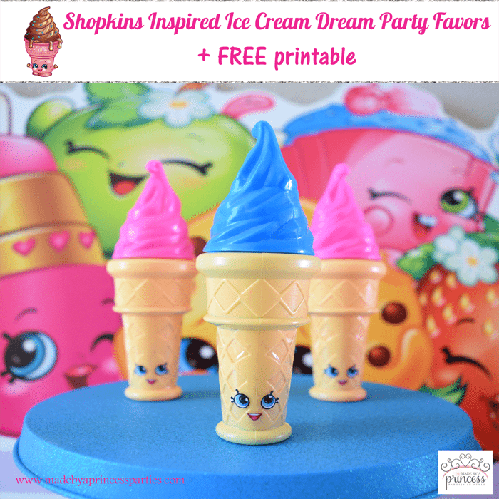 shopkins inspired ice cream dream party favor